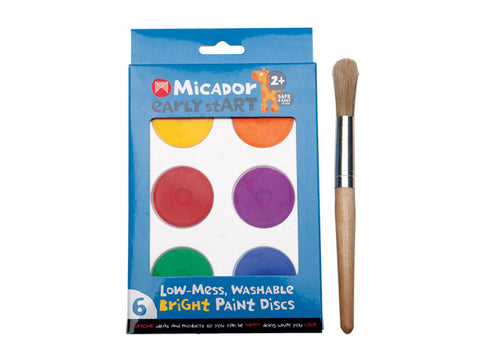 Micador Washable Bright Paint Discs and Brush