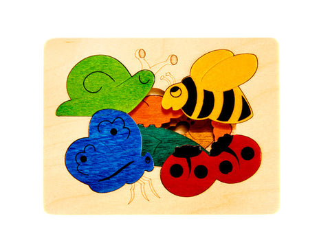 snail and friends layered jigsaw puzzle