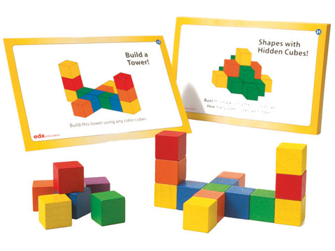 Wooden Cubes with Activity Cards