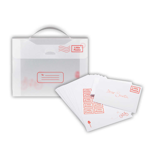 A5 Little Postie Letter Set In Folio with envelopes and stamps
