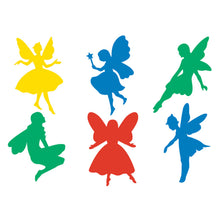 Load image into Gallery viewer, set of six stencil cut outs in fairy shapes