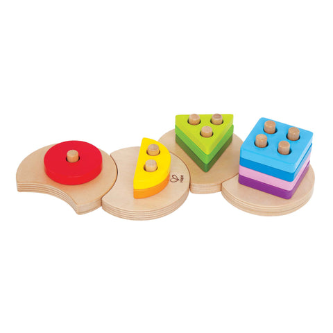 hape colourful geometric shape sorter