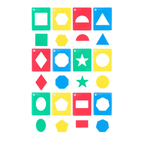 Educational Colours - Geometric Stencils - Toy Store and More