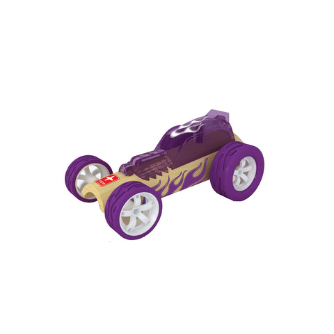 hape mini hot rod wooden toy car