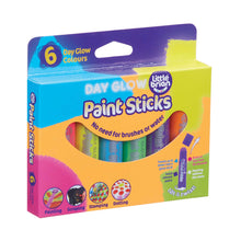 Load image into Gallery viewer, set of Little Brian Paint Sticks in day glow colours