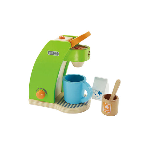pretend play wooden coffee machine