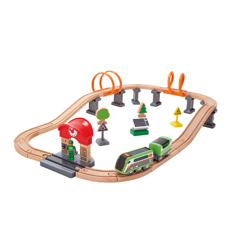 hape solar powered circuit rail set