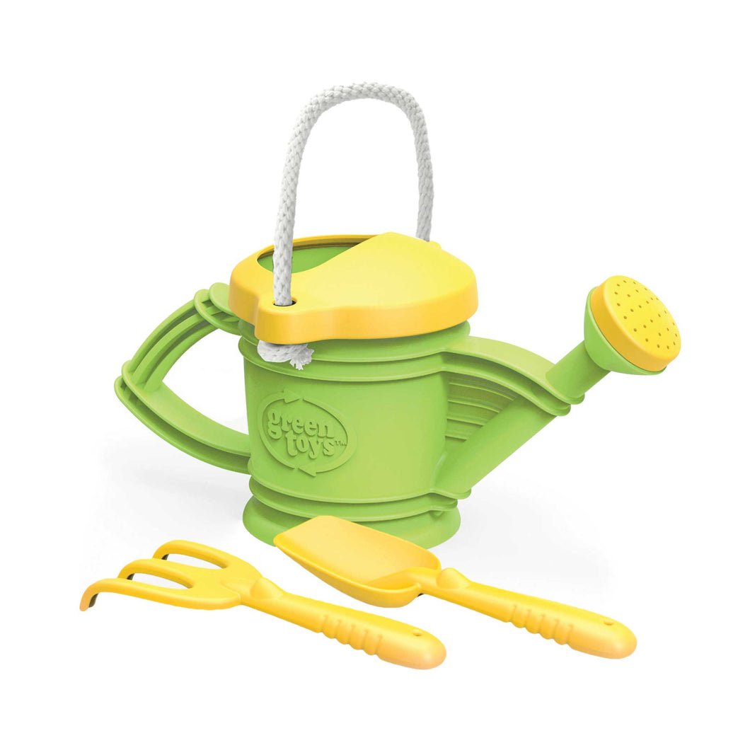 Green Toys Watering Can with shovel and spade