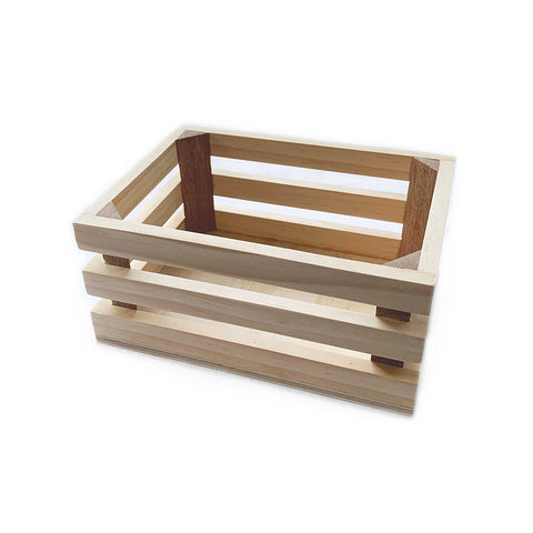Wooden Market Crate - Toy Store and More