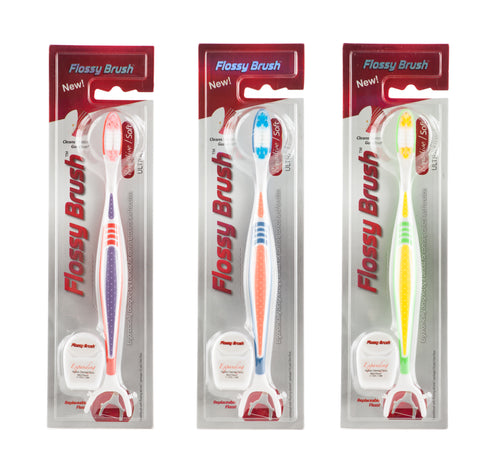 The Flossy Brush - Sensitive - Family Pack (3) - BUY 2 GET 1 FREE