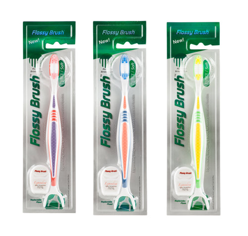 The Flossy Brush - Soft - Family Pack (3) - BUY 2 GET 1 FREE