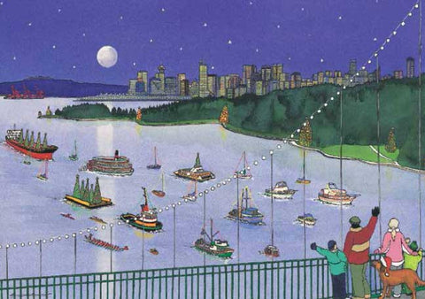 A Starry Night, A Harbour Bright