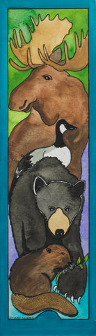 Bookmark - Moose, Goose, Bear and Beaver