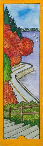 Bookmark - Autumn Seawall