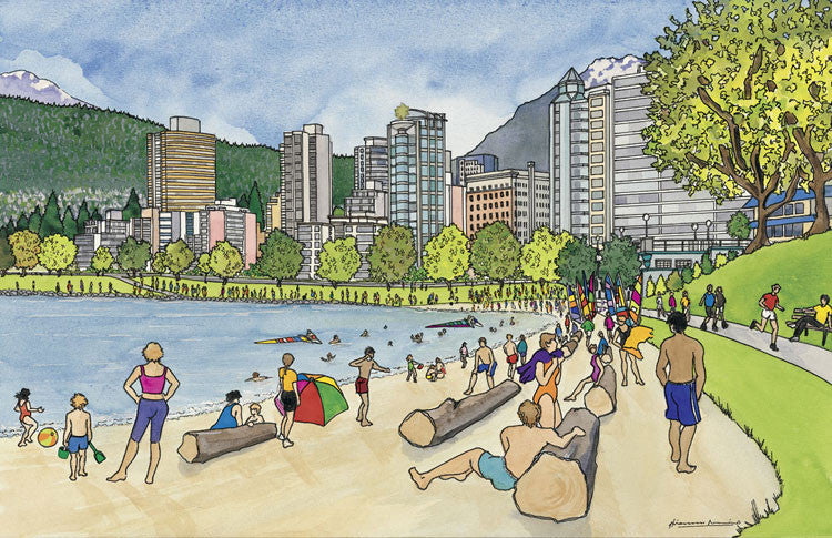 English Bay on the Beach