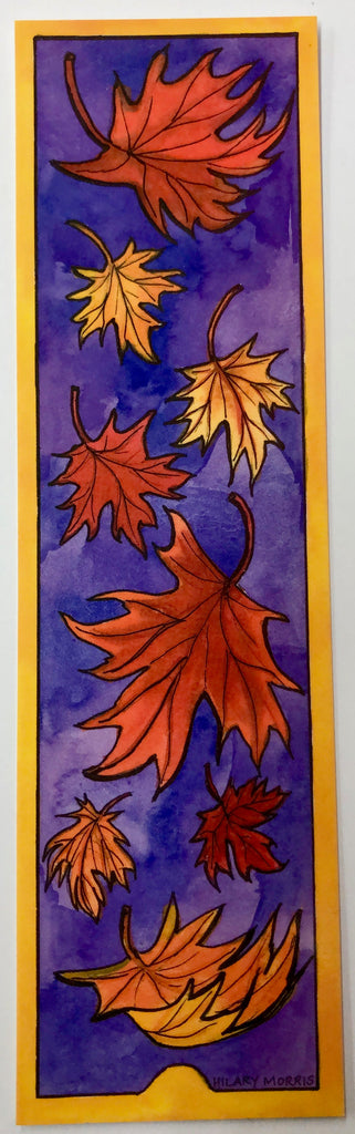 Bookmark - Falling Maple Leaves