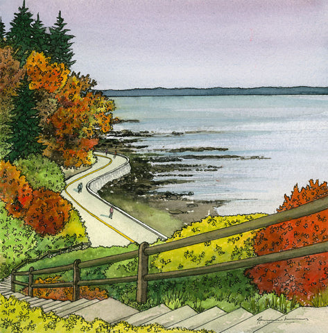 Fall, Stanley Park Seawall (Four Seasons of Vancouver)