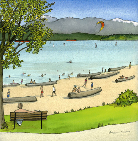 Summer, Spanish Banks (Four Seasons of Vancouver)