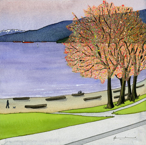 Winter, Beach Avenue (Four Seasons of Vancouver)