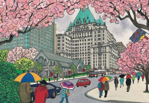 Spring Blossoms on Burrard Street