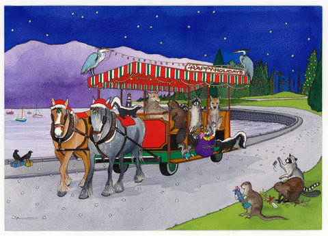 Taking a Christmas Carriage Ride