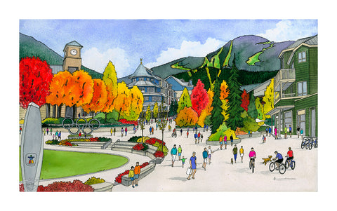 A Fall Day in Whistler Village