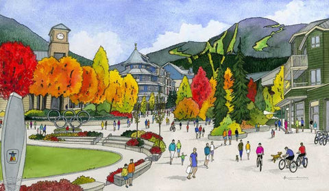 A Fall Day Over Whistler Village