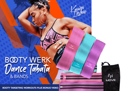 BOOTY WERK DVD includes BOOTY BANDS (PASTEL COLORS) - TeamLaShae