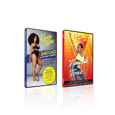 DVD BUNDLE -SNATCHED HIPHOP TABATA & TWERK N TONE DVD BUNDLE