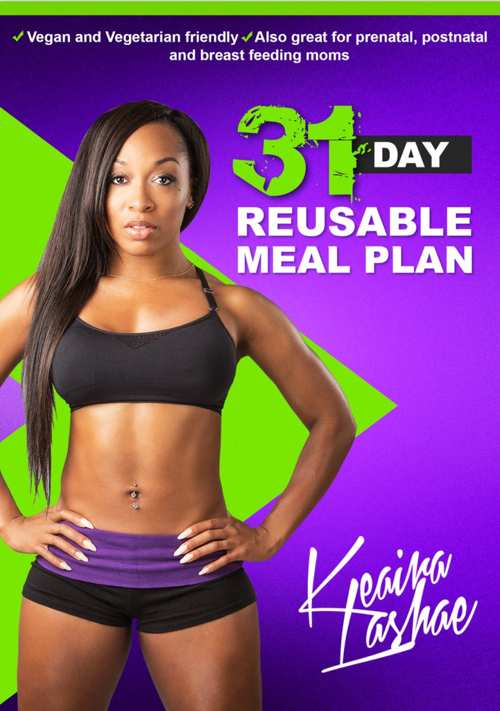 31 Day Meal Plan PDF DOWNLOADABLE Booklet (Vegans, Vegetarians, Seafood, Meat Eaters, Prenatal, Postnatal and Breast Feeding Moms)