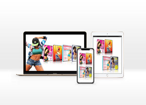 DIGITAL DVDS - 4 DVD BUNDLE DEAL with FREE MEAL PLAN- SNATCHED, DANCE MOVE WERK, TWERK N TONE, & MILF MOVES
