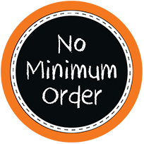no minimum order for custom logo printing