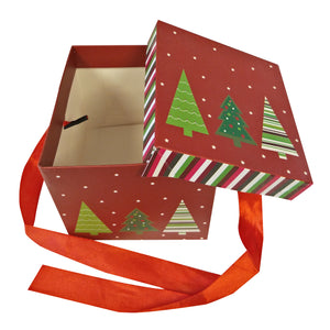 10 pcs/Fold-able Cardboard Christmas Gift Box With Ribbon - Ld Packagingmall