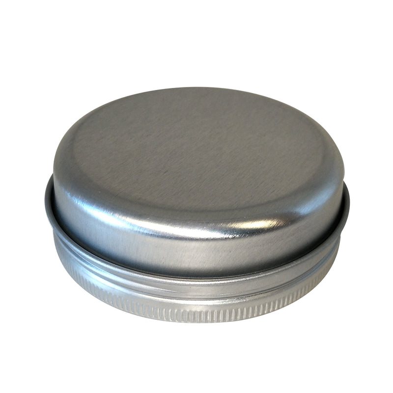 Sliver and Gold Round Seamless Tin With Screw Lid