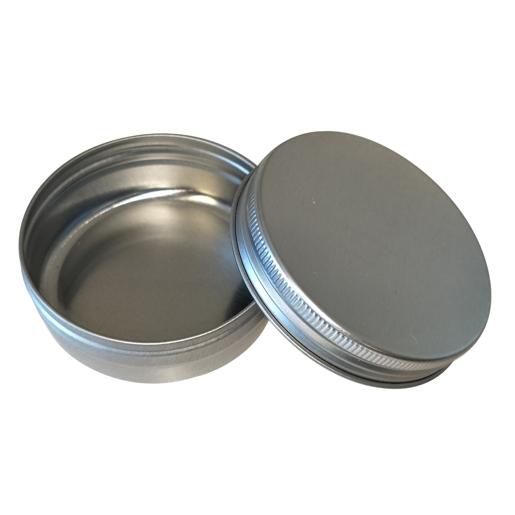 Luxury Sliver and Gold Round Seamless Tin With Solid Screw Lid