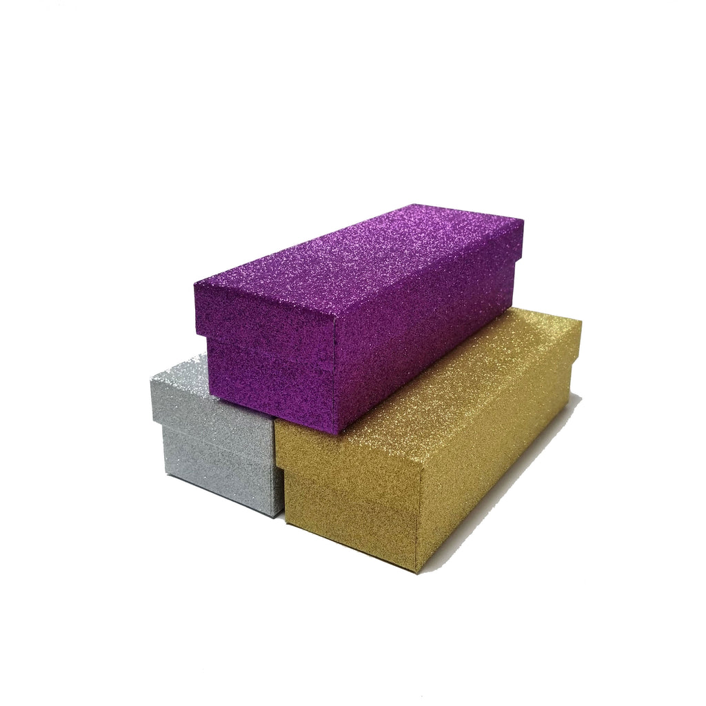 Rectangular Glitter Rigid Gift Box With Lid
