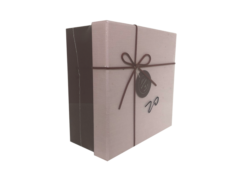 Square Paper Gift Box with Bow