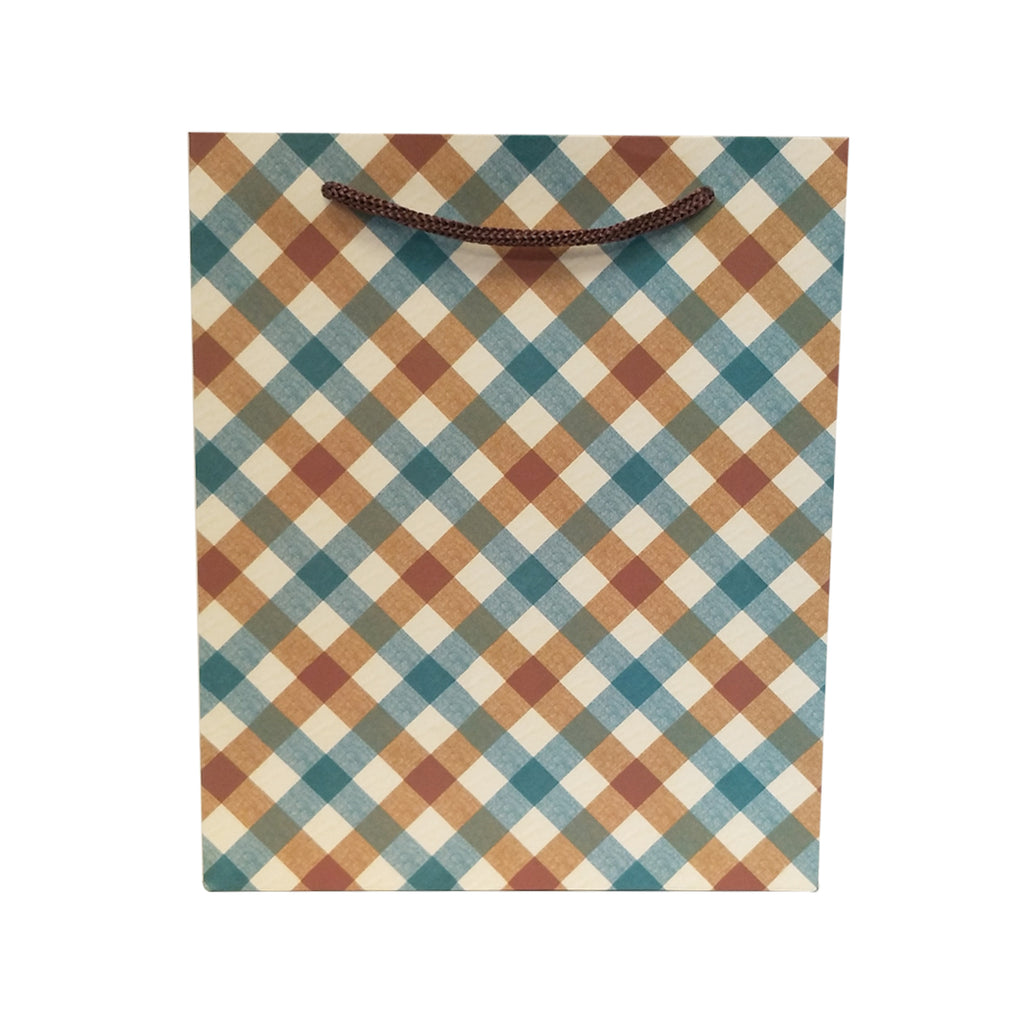 Checkered Gift Carrier Bag - Ld Packagingmall