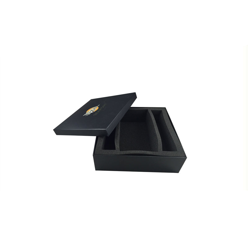 Black Lift Off Gift Box with Protective Compartment - Ld Packagingmall