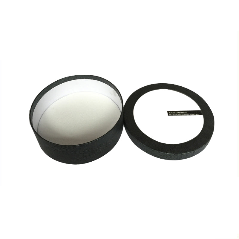 Black Round Paper Box with a Lid