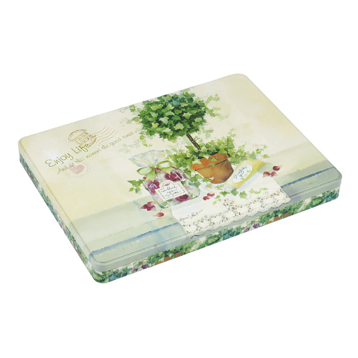 A4 Rectangular Step Lid Paper Storage Tin - Ld Packagingmall