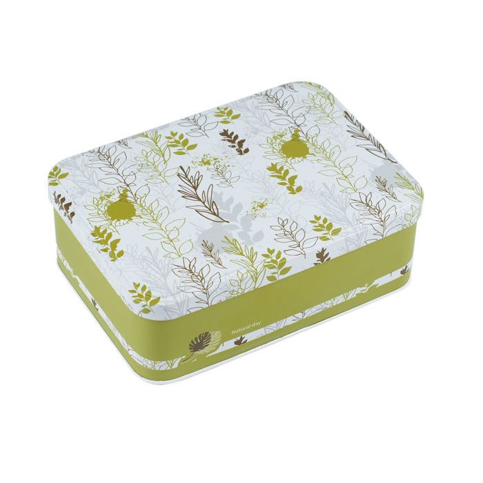 Rectangular Step Lid Storage Tin