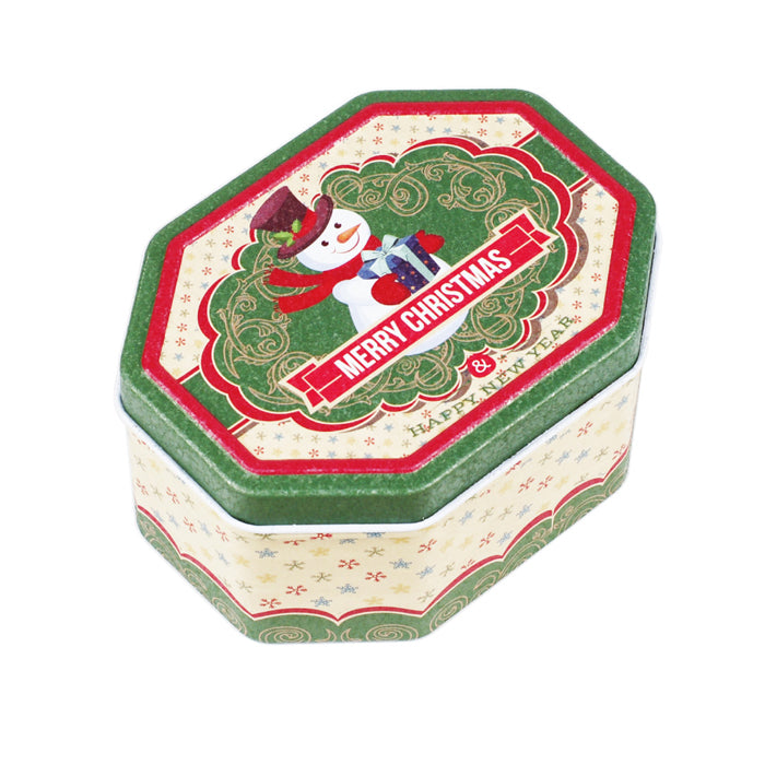Octagonal Step Lid Christmas Gifts Tin - Ld Packagingmall