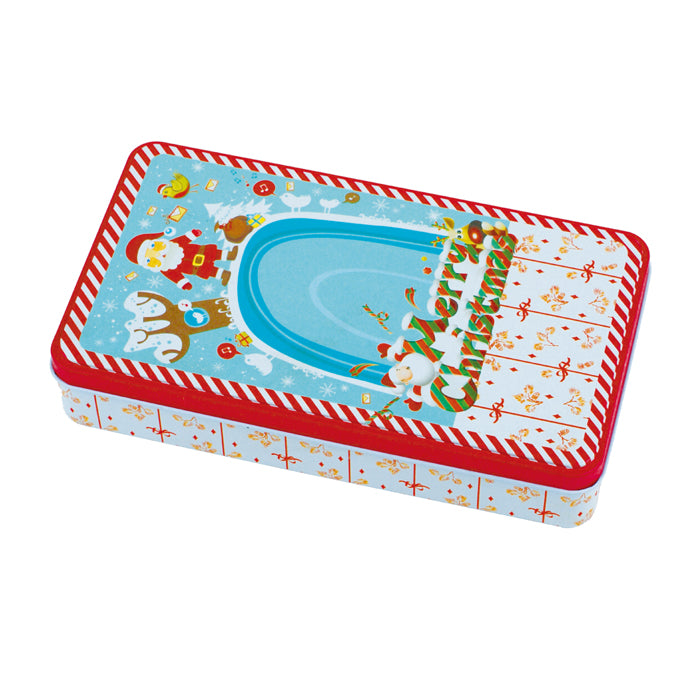 Deep Rectangular Step Lid  Christmas Gifts Storage Tin - Ld Packagingmall