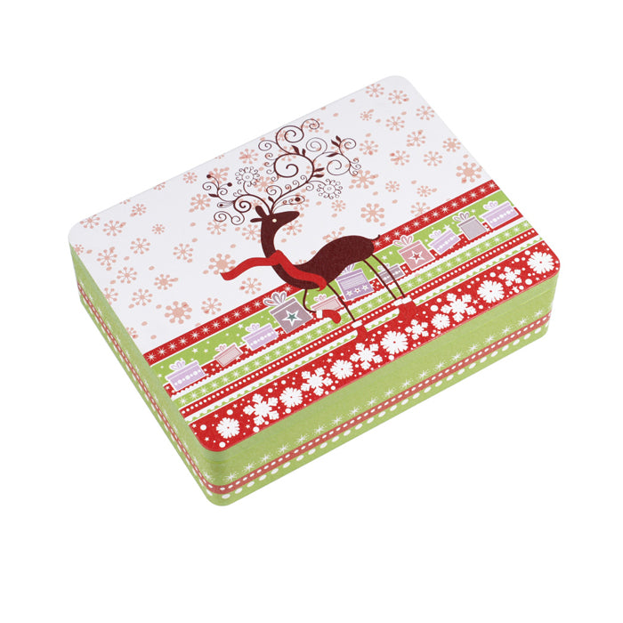 Chirsrmas Rectangular Solid Lid Storage Tin - Ld Packagingmall