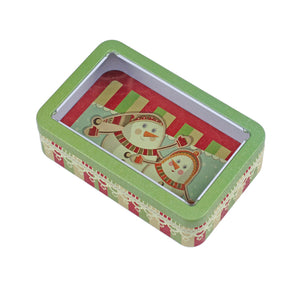 Rectangular Solid Lid With Window Storage Tin - Ld Packagingmall