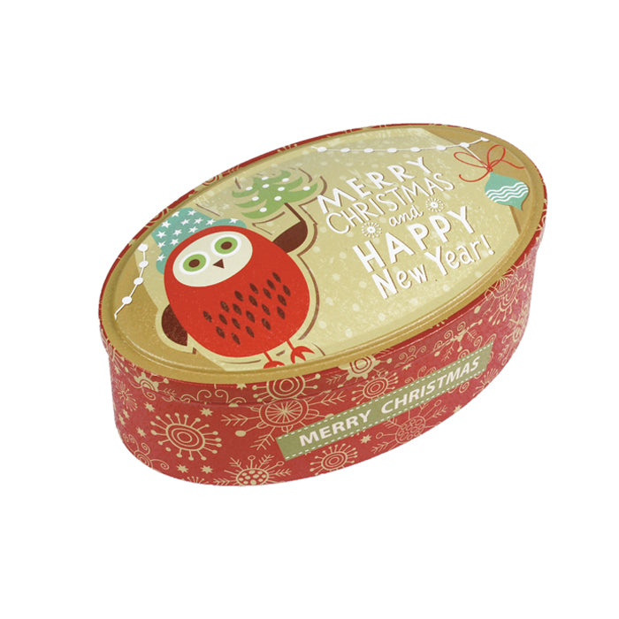 Oval Step Lid Christmas Gifts Storage Tin - Ld Packagingmall