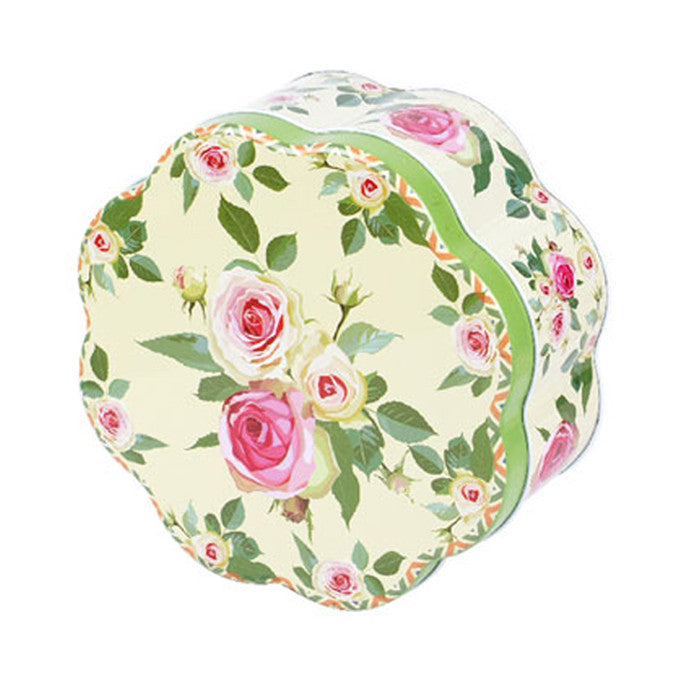 Flower Shaped Slip Lid Storage Tin