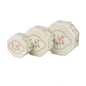 Octagonal Slip Lid Stackable Storage Tin - Set of 3 - Ld Packagingmall