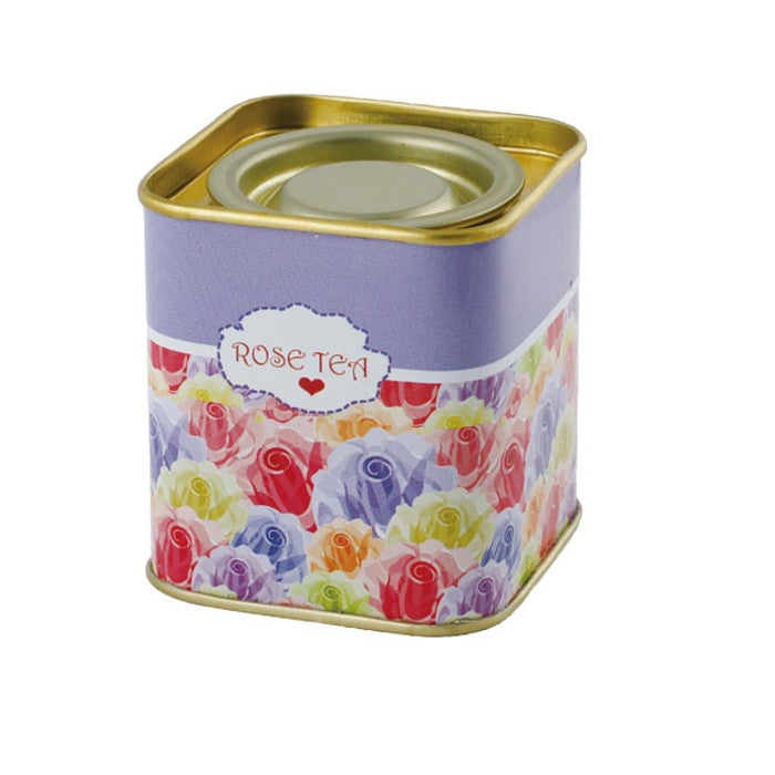 Square Lever Lid Tea Tin